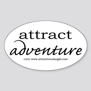 Attract Adventure Oval Sticker