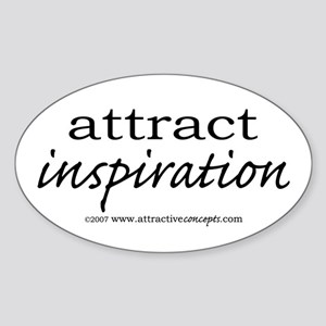 Attract Inspiration Oval Sticker