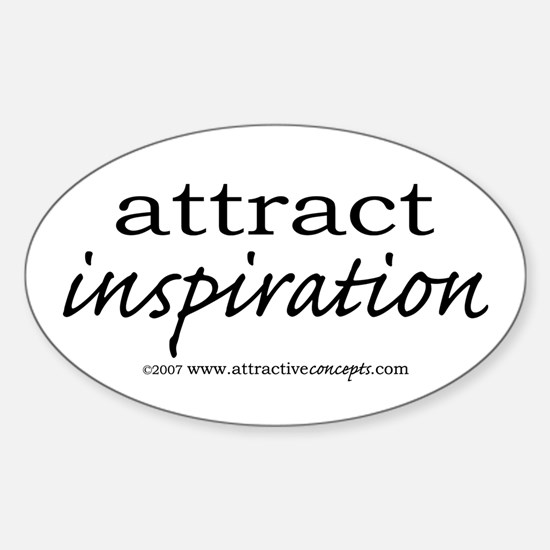 Attract Inspiration Oval Decal