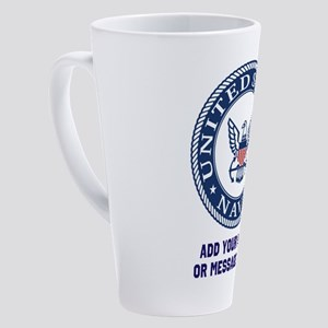 US Navy Symbol Personalized 17 oz Latte Mug