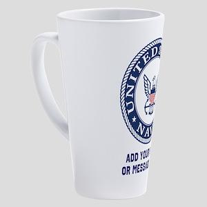 US Navy Symbol Personalized 17 oz Latte Mug