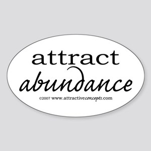 Attract Abundance Oval Sticker