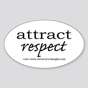 Attract Respect Oval Sticker