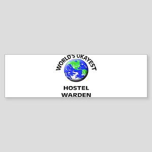 World's Okayest Hostel Warden Bumper Sticker