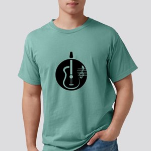 guitar abstract cutout with notes Mens Comfort Col
