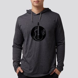 guitar abstract cutout with notes Mens Hooded Shir