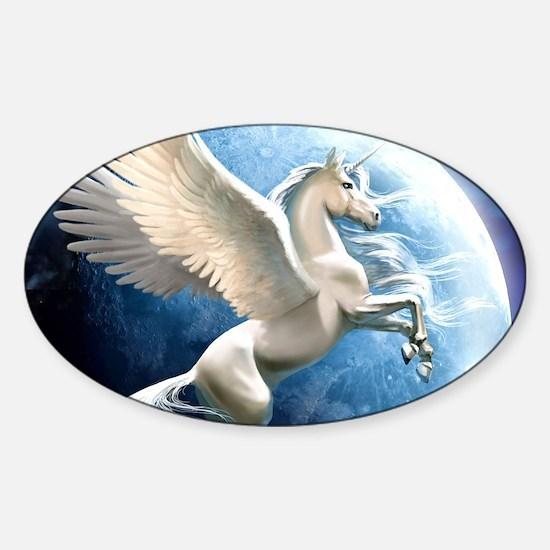Magical Unicorn Sticker (Oval)