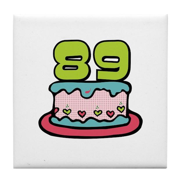 89th Birthday Cake Tile Coaster By Keepsakearts