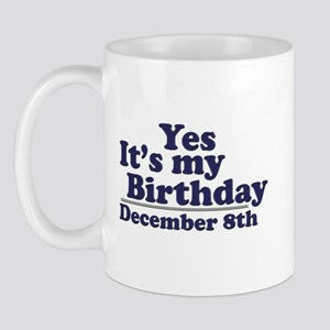 December 8th Birthday Mug