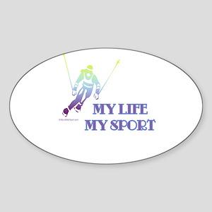 MY LIFE MY SPORT Oval Sticker