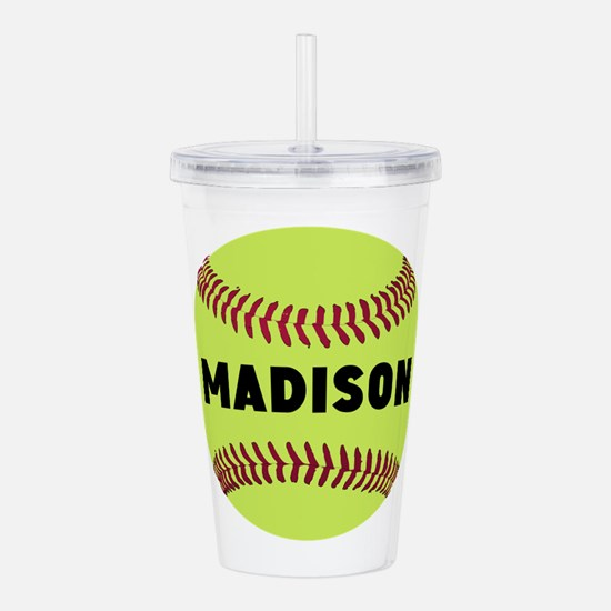 Softball Personalized Acrylic Double-wall Tumbler