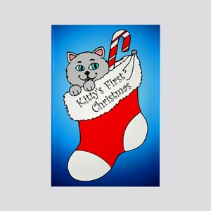 Kitty's First Christmas Rectangle Magnet