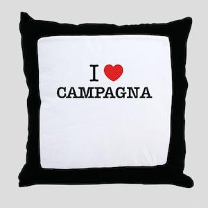 I Love CAMPAGNA Throw Pillow