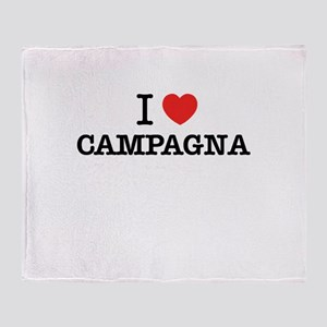 I Love CAMPAGNA Throw Blanket