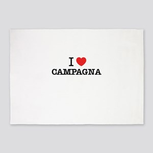 I Love CAMPAGNA 5'x7'Area Rug