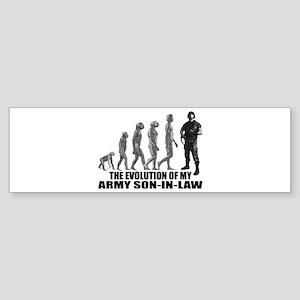Evolution of my Army Son-n-Law Bumper Sticker