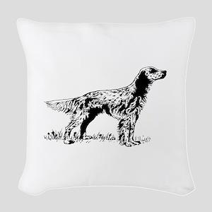 English Setter Woven Throw Pillow