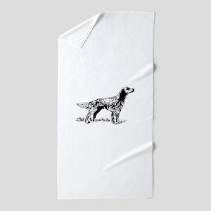 English Setter Beach Towel