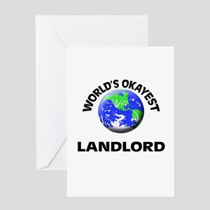 World's Okayest Landlord Greeting Cards
