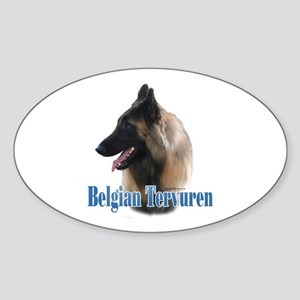 Tervuren Name Oval Sticker