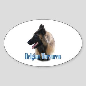 Tervuren Name Oval Sticker