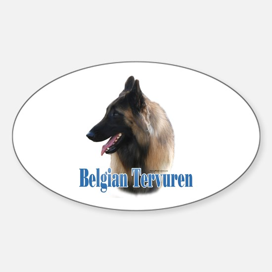 Tervuren Name Oval Decal