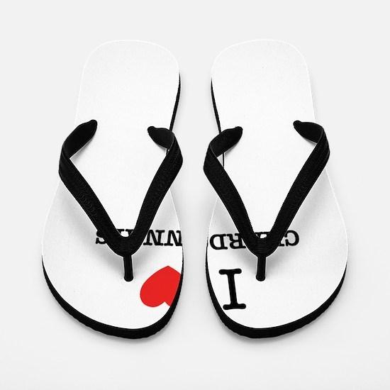 I Love CHARDONNAYS Flip Flops