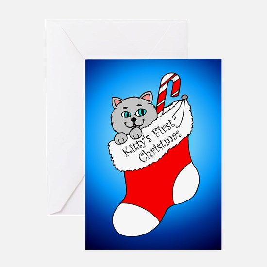 Kitty's First Christmas Greeting Card