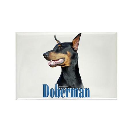 Doberman(black)Name Rectangle Magnet (100 pack)