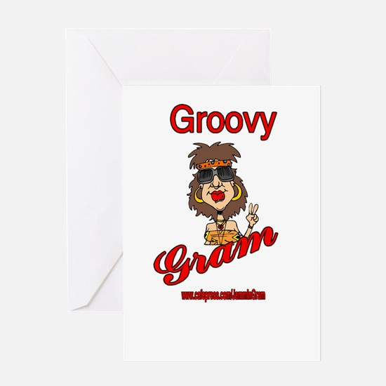 GROOVY GRAM Greeting Card