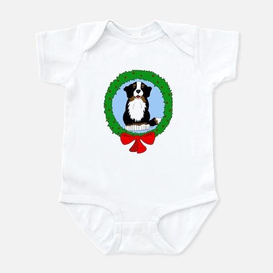 Bernese Mountain Dog Christmas Infant Bodysuit