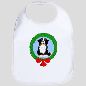 Bernese Mountain Dog Christmas Bib
