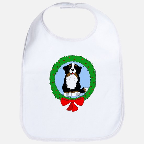 Bernese Mountain Dog Christmas Bib