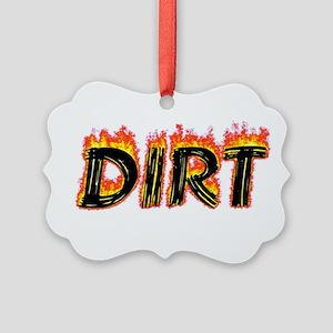 Flaming Dirt Ornament