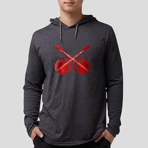 crossed banjos red Mens Hooded Shirt