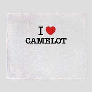 I Love CAMELOT Throw Blanket