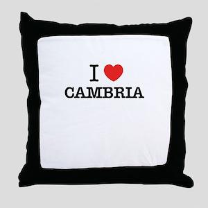 I Love CAMBRIA Throw Pillow