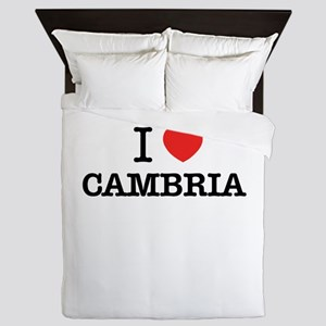 I Love CAMBRIA Queen Duvet