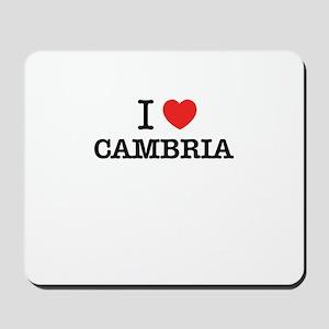 I Love CAMBRIA Mousepad