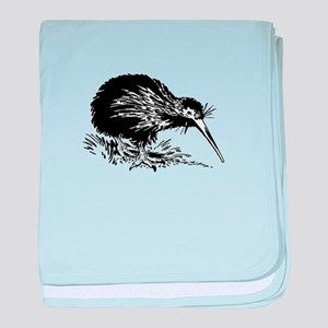 Kiwi bird baby blanket