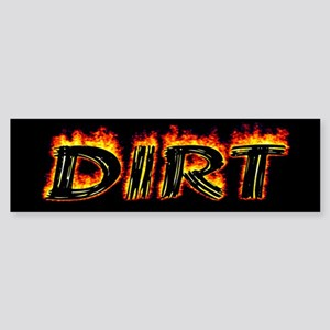 Flaming Dirt Bumper Sticker