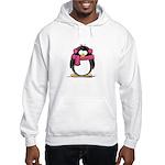 Pink Earmuff Penguin Hooded Sweatshirt