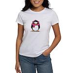 Pink Earmuff Penguin Women's T-Shirt