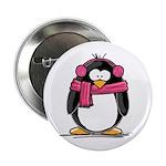 Pink Earmuff Penguin 2.25