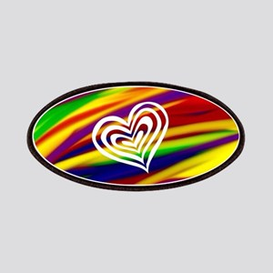 HEART Gay Rainbow Art Patch