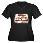 Why John & Nancy Divorced Women's Plus Size V-Neck