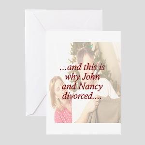 Why John & Nancy Divorced Greeting Cards (Pk of 20