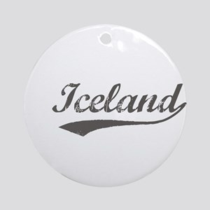 Iceland flanger Ornament (Round)