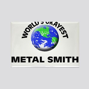 World's Okayest Metal Smith Magnets