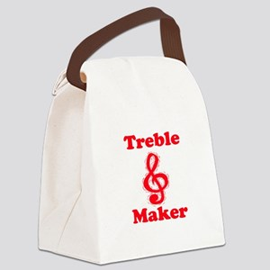 treble maker red Canvas Lunch Bag